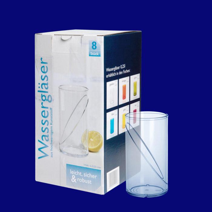 x Plastová gastro sklenička l SAN v dárkovem kartonu